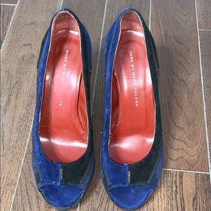 Marc Jacobs Zipper Suede Platform Heels